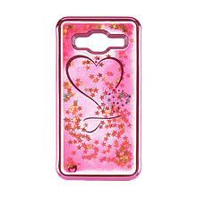 Чехол накладка силиконовый TPU Beckberg Aqua для Samsung J700 J7 Hearts Pink