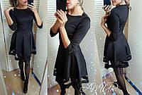 Платье женское новогоднее дайвинг размер универсал 086 черное