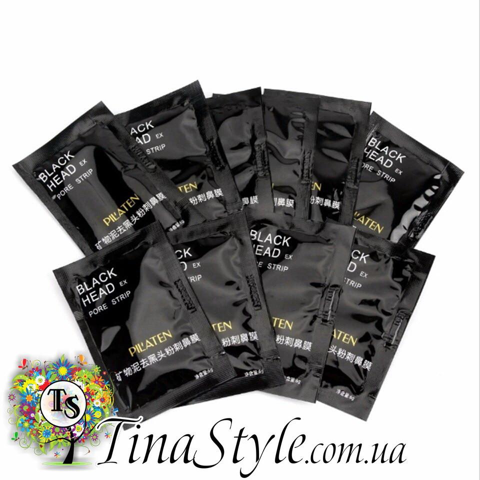 Black Mask чорна маска Pilaten очищаючая для лица пор носа черная от угрей прищей