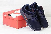 Мужские демисезонные кроссовки 3702 Nike Air Presto темно синие с оранжевым