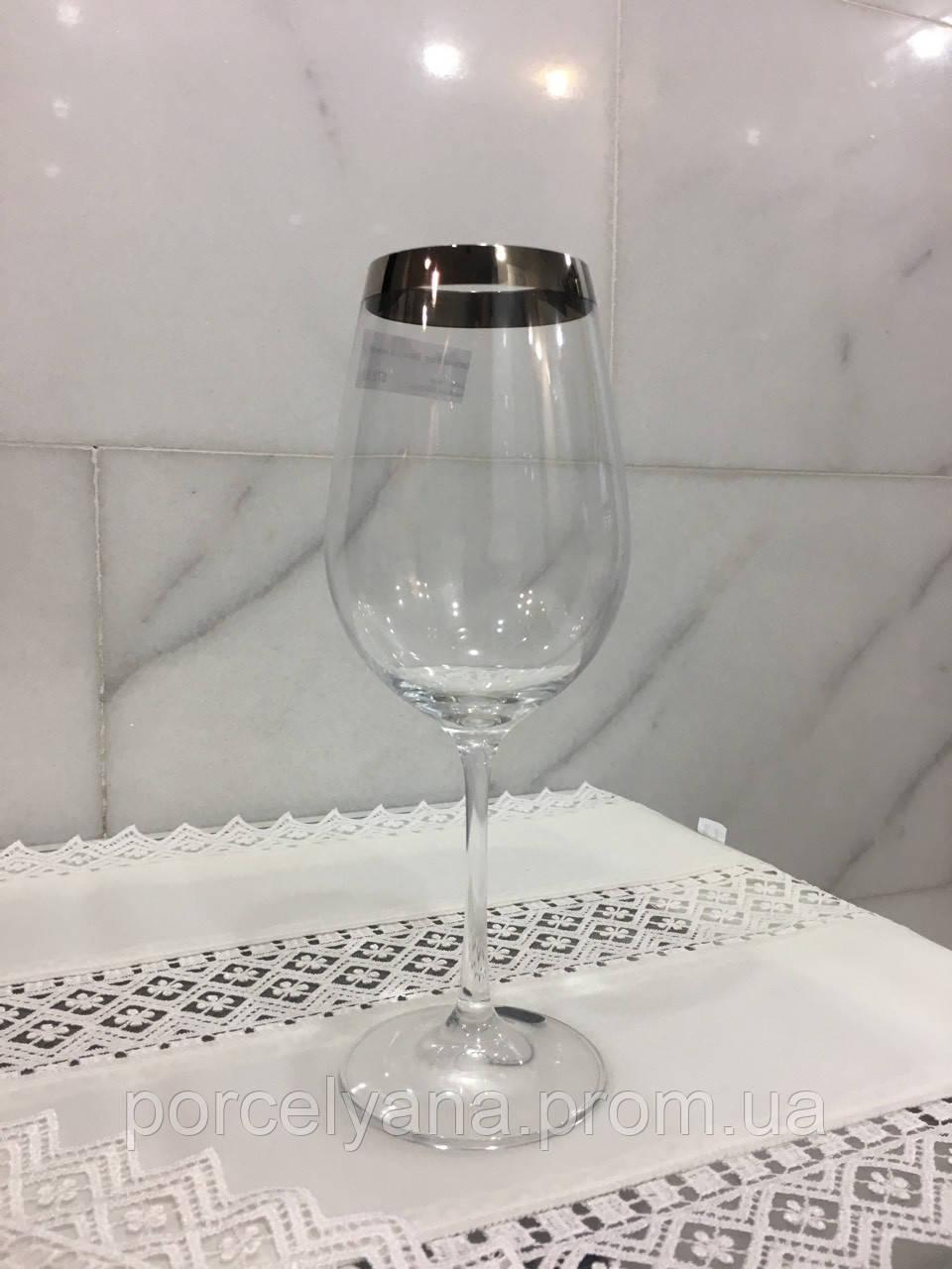 Бокалы для вина 6шт 350мл Bohemia Viola платина