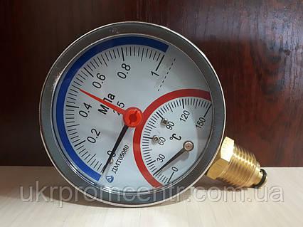 Манометр с термометром (термоманометр) ДМТ05080