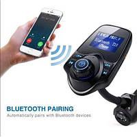 Современный ФМ FM трансмиттер, модулятор для автомобиля MP3 Bluetooth T10. Высокое качество. Код: КДН2699