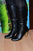 Сапоги кожаные зимние на меху Crisma М30чб качество люкс 37