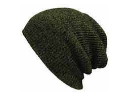 Мужская / Подростковая шапка темно-зеленая