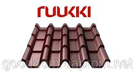 Металлочерепица Ruukki/Руукки, Armorium/Армориум (финская) RR32, Polyester mat/полиэстер мат Quality class 30