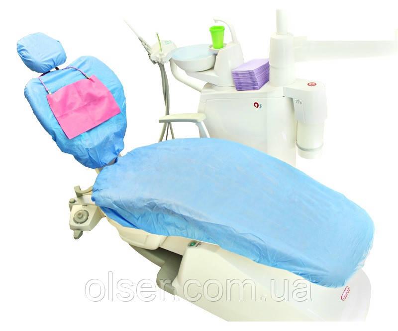 Чехол для стоматологического кресла голубой