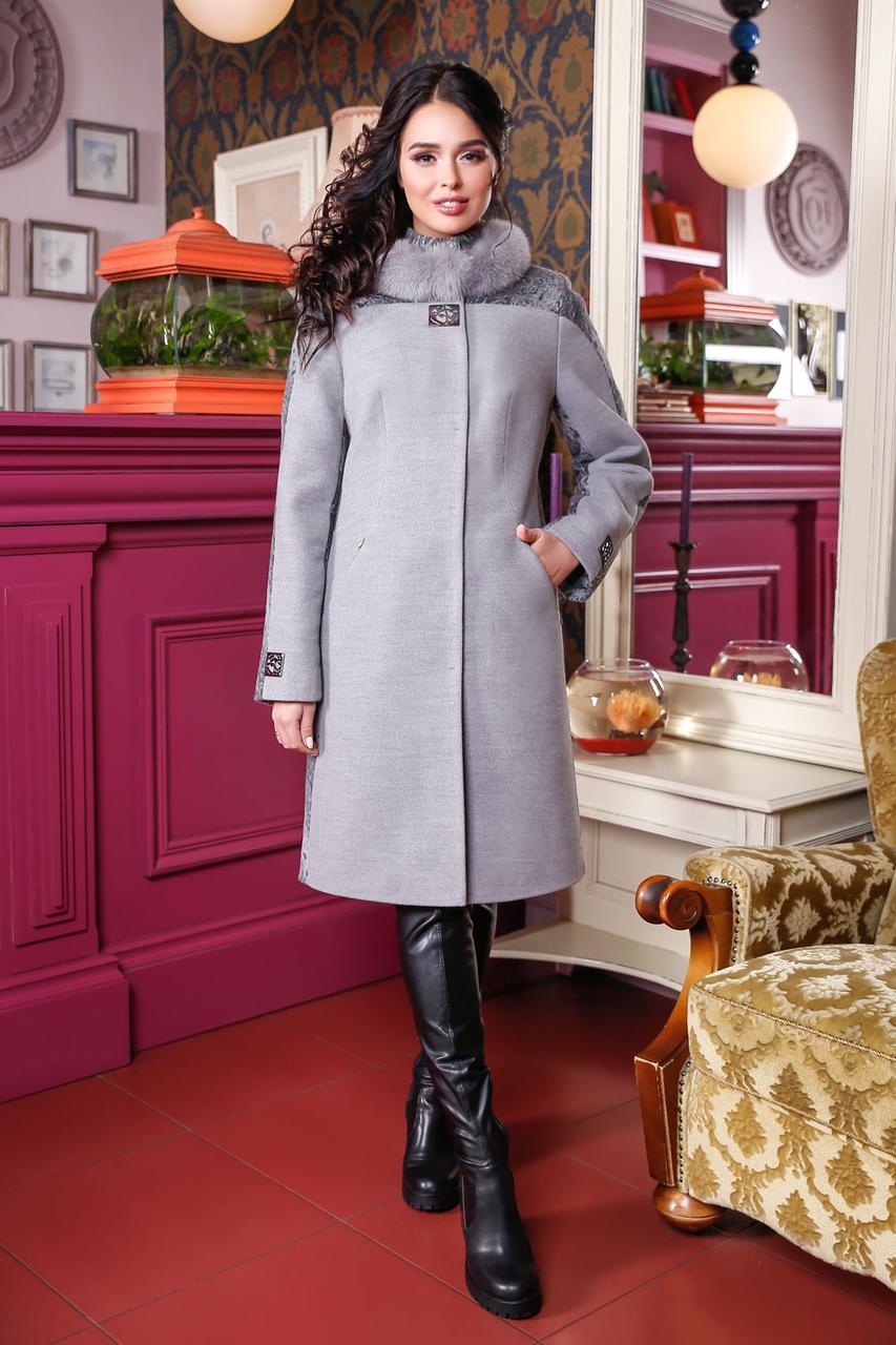 ... Молодёжное зимнее кашемировое пальто с натуральным мехом 44-56 размер 5f6f1be4b9c15