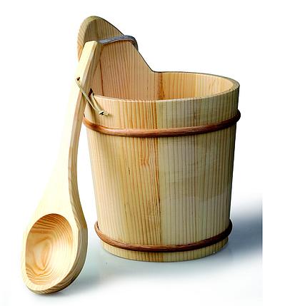 Шайка деревянная для сауны Bonfire WZ-03 8л., фото 2