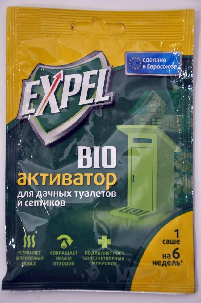 Биоактиватор для дачных туалетов и септиков EXPEL саше 40гр.
