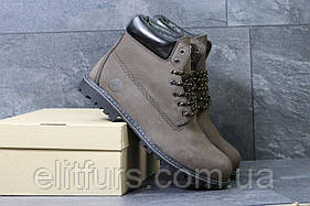 Ботинки Timberland темно коричневые натуральная кожа
