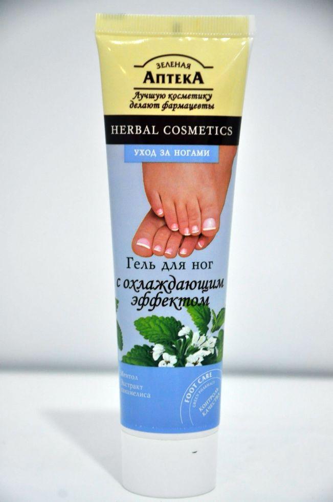Гель для ног с Охлаждающим эффектом Зеленая Аптека 100мл.