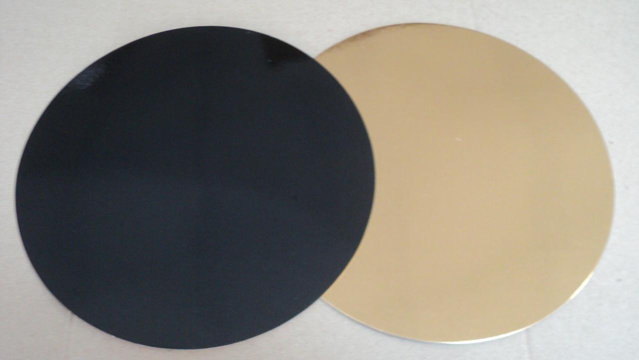 Подложка  круг (золото/черное) d32см.(код 03136)