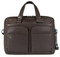 Кожаный портфель Piquadro CA2849B3_TM коричневый