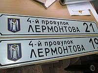 Табличка с адресом дома прямоугольная 220 х 950 (до 11 букв)