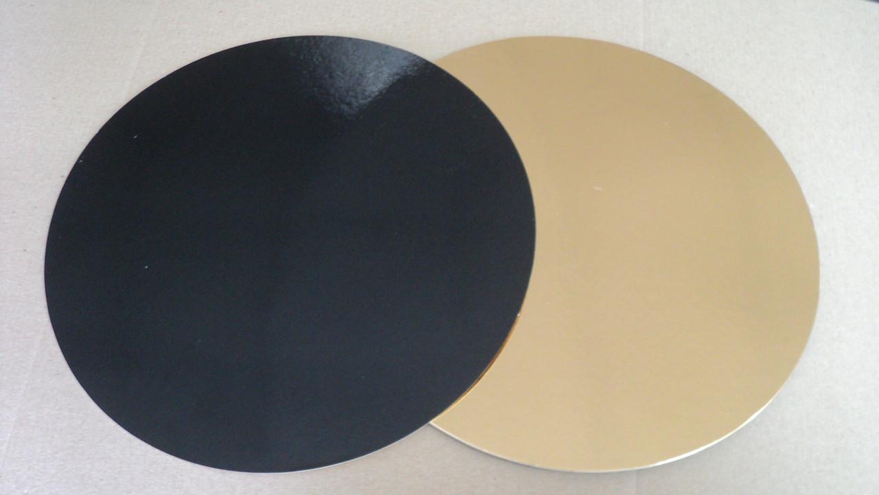 Подложка  круг (золото/черное) d28см.(код 03135)