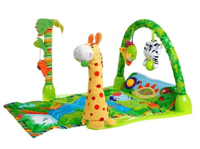 Мягкий коврик для новорожденных 3в1 Тропический лес 3059