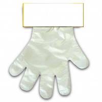 Перчатки полиэтиленовые на планшетке, 100шт/уп