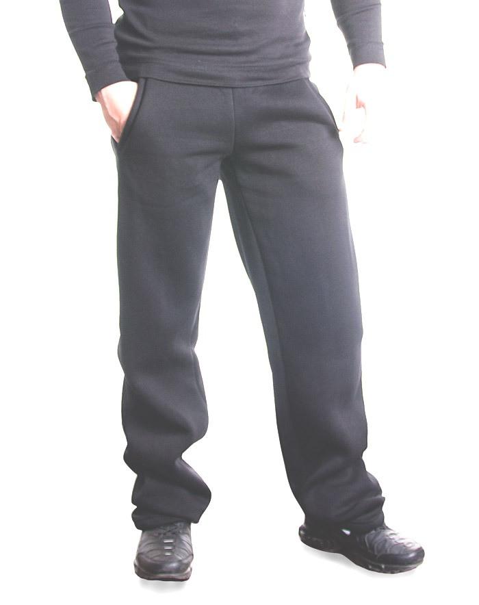 Bono Штаны мужские с начесом черные 503