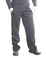 Штаны мужские с начесом черные, фото 1