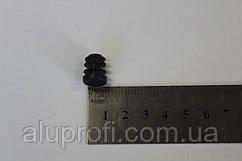 Заглушка пластиковая внутренняя ф12мм черная