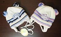 Шапочка для новорожденных (окружность головы 38-40см)