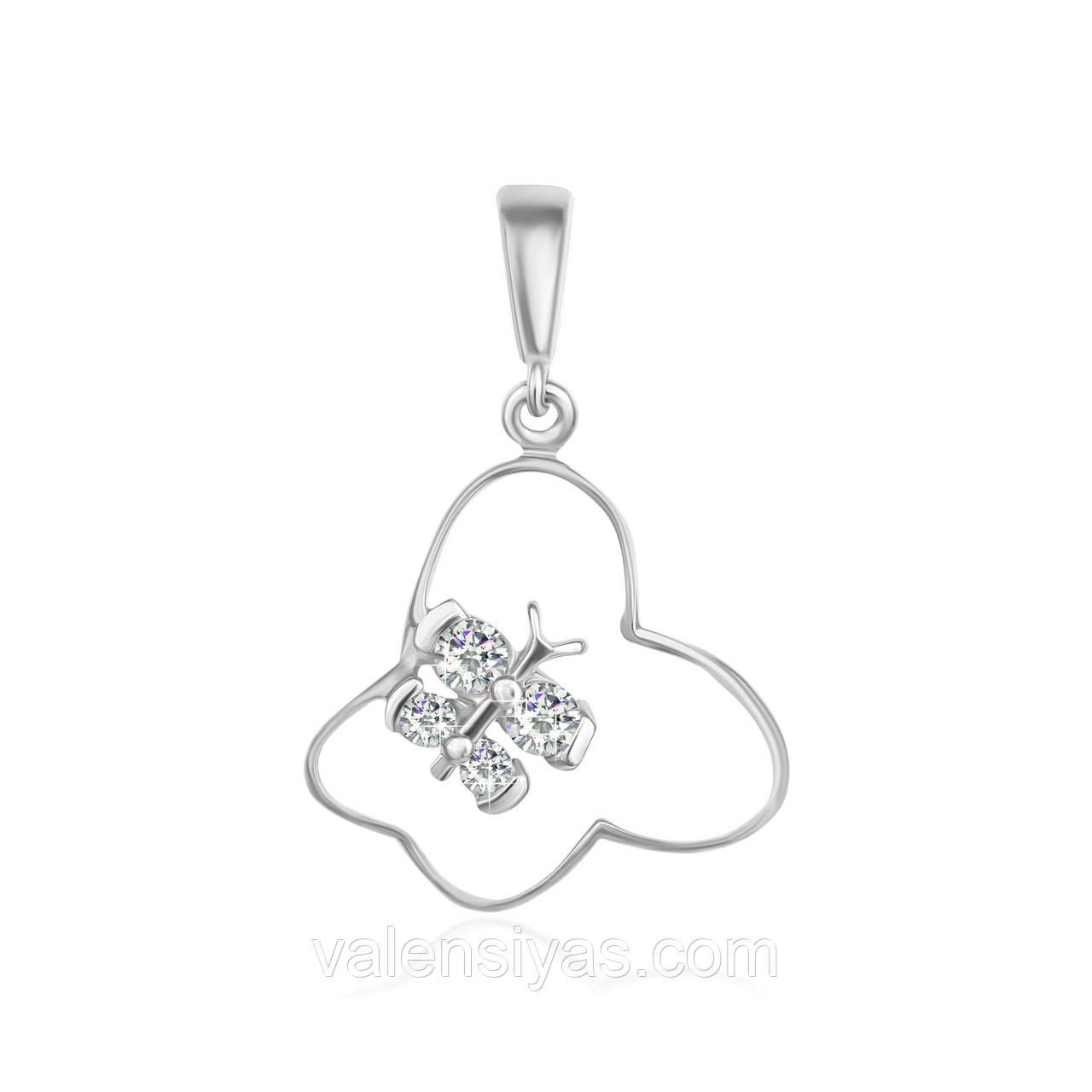 Срібний підвіс Метелики П2Ф/010