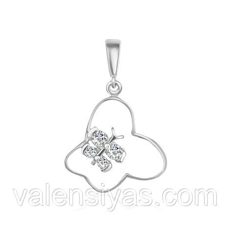 Срібний підвіс Метелики П2Ф/010, фото 2
