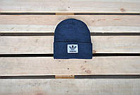 Шапка унисекс Adidas / синяя шапка Адидас