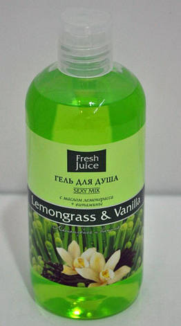 Крем-гель для душа Lemongrass & Vanilla Fresh Juice 300мл., фото 2