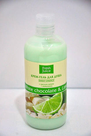Крем-гель для душу White chocolate&Lime Fresh Juice 300мл., фото 2