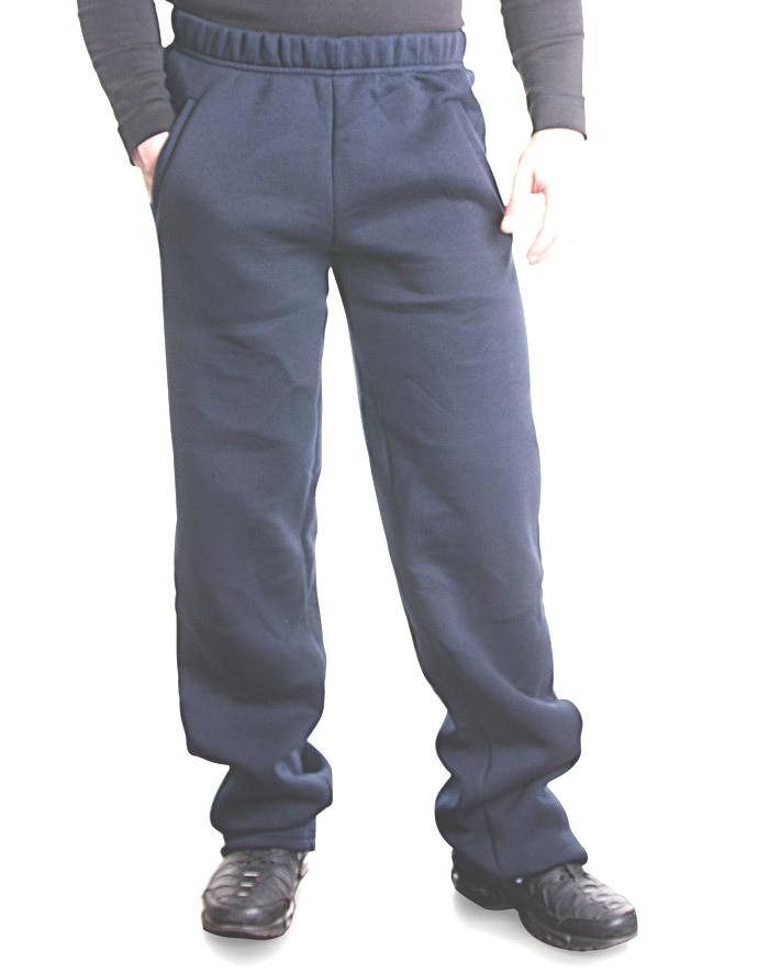 Bono Штаны мужские с начесом темно-синие 503