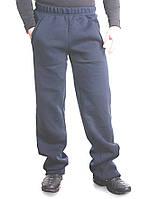 Штаны мужские с начесом темно-синие, фото 1