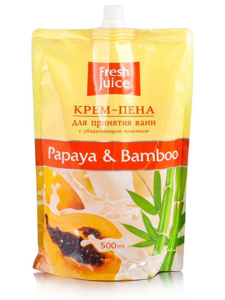 Крем-пена для принятия ванн Papaya & Bamboo Fresh Juice дой-пак 500мл.
