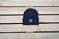 Шапка унисекс Adidas / темно-синяя шапка Адидас