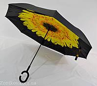 """Зонтик """"Smart"""" с обратным сложением с цветочным принтом от фирмы """"Swifts"""""""