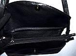 Женский классический каштановый клатч 25*15, фото 2