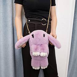 Рюкзак Кролик из натурального меха