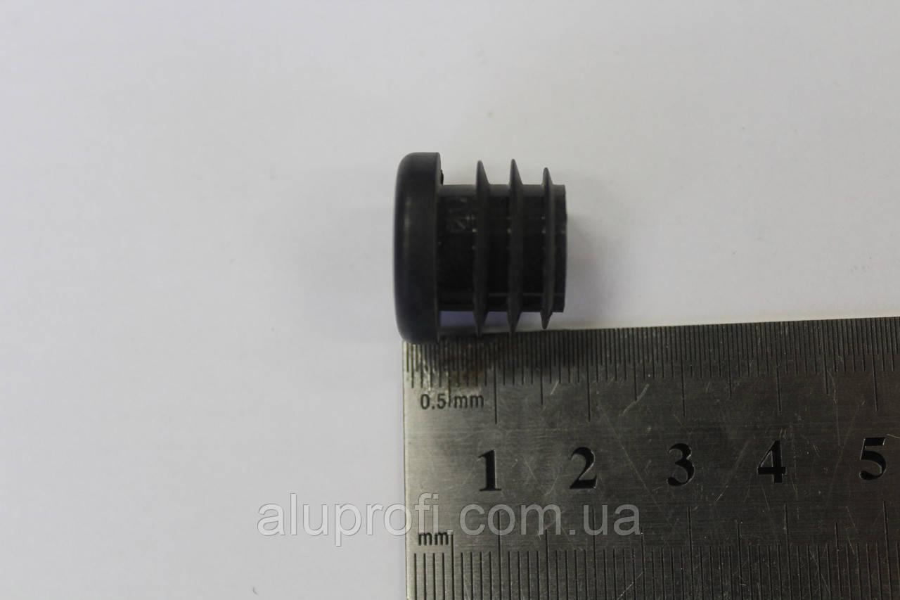 Заглушка пластиковая внутренняя ф16мм черная