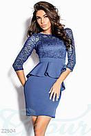 Гипюровое платье с баской 42,44,46,48