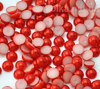 Полубусины красные 8мм