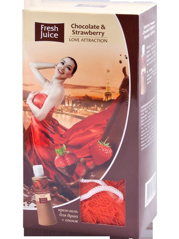 "Подарочный набор ""Love Attraction"" Chocolate & Strawberry Fresh Juice."