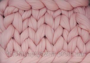 Шерсть для пледа (толстая пряжа) серия Кросс, цвет закат, фото 2