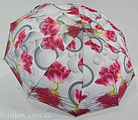 """Женский зонт полуавтомат на 10 карбоновых спиц от фирмы """"Feeling Rain""""."""