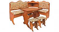 Кухонный угол Корнет 1,1x1,5м (с раскладным столом 60*80) Пехотин