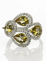 Кольцо серебряное с султанитом, фото 1