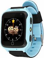 Детские умные GPS часы UWatch Q529 с камерой и фонариком голубой