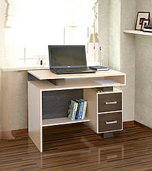 Компьютерный стол Пиксель Летро дуб молочный/венге темный