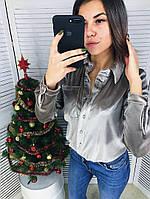 Женская бархатная рубашка в расцветках 44355