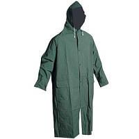 Плащ дождевик ПВХ непромокаемый зеленый